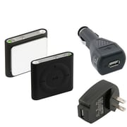 Insten® 497381 3-Piece MP3 Car Charger Bundle For Apple iPod Shuffle 4th Gen