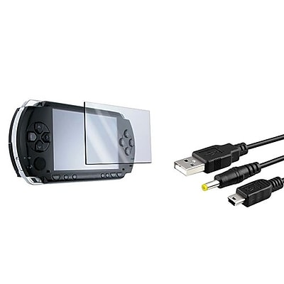 Insten® 509435 2-Piece Game Cable Bundle For Sony PSP 1000/2000/3000/PSP