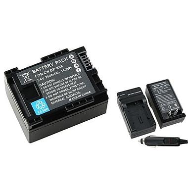 Insten® 737164 3-Piece DV Battery Bundle For Canon BP-808/BP-819