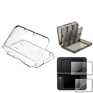 Insten 3-Piece Game Case Bundle For Nintendo 3DS/3DS XL/LL(737249)