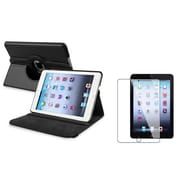 Insten 816055 Leather Swivel Stand Case for Apple iPad Mini with Retina Display Tablet, Black