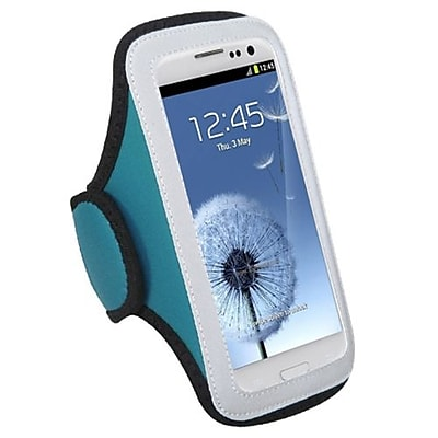 Insten® Vertical Pouch Universal Sport Armband, Baby Blue
