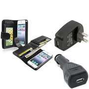 Insten® 932985 3-Piece iPhone Car Charger Bundle For Apple iPhone 5/5S