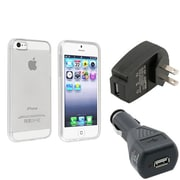 Insten® 933263 3-Piece iPhone Car Charger Bundle For Apple iPhone 5/5S