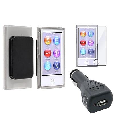Insten® 954401 3-Piece MP3 Car Charger Bundle For Apple iPod Nano 7th Gen