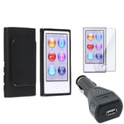 Insten® 954421 3-Piece MP3 Car Charger Bundle For Apple iPod Nano 7th Gen