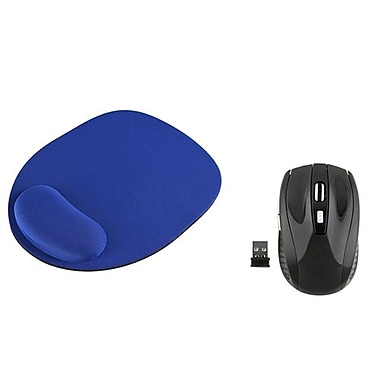 Insten 992696 USB Wireless Optical Mouse with Mouse Pad, Black