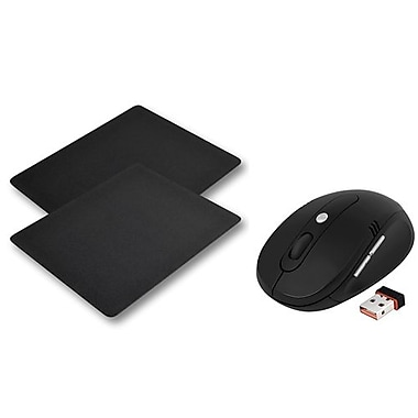 Insten® USB Wireless Optical/Trackball Mouse with Mouse Pad, Black(992703)