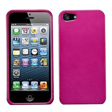 Insten Phone Protector Cover For iPhone 5/5S, Solid Hot Pink (992852)