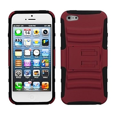 Insten® Protector Cover W/Advanced Armor Stand F/iPhone 5/5S, Red/Black