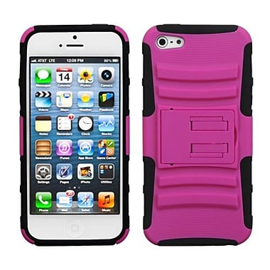 Insten® Protector Cover W/Advanced Armor Stand F/iPhone 5/5S, Hot-Pink/Black