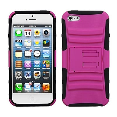 Insten® Protector Cover W/Advanced Armor Stand F/iPhone 5/5S; Hot-Pink/Black