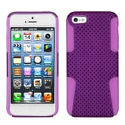 Insten® Astronoot Phone Protector Cover F/iPhone 5/5S, Purple/Electric Pink