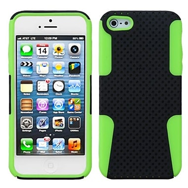 Insten® Astronoot Phone Protector Cover F/iPhone 5/5S, Black/Electric Green