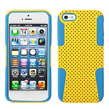 Insten Astronoot Phone Protector Cover For iPhone 5/5S, Yellow/Tropical Teal (992865)