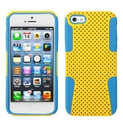 Insten® Astronoot Phone Protector Cover F/iPhone 5/5S, Yellow/Tropical Teal