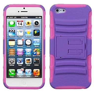 Insten® Protector Cover W/Advanced Armor Stand F/iPhone 5/5S, Purple/Electric Pink
