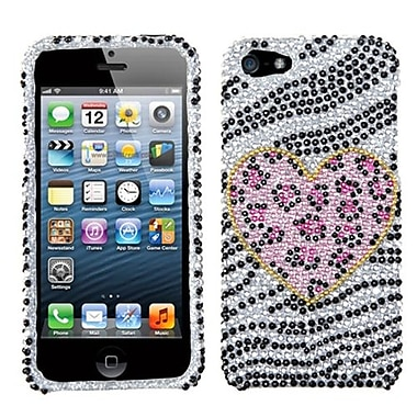 Insten® Diamante Phone Protector Cover F/iPhone 5/5S, Playful Leopard