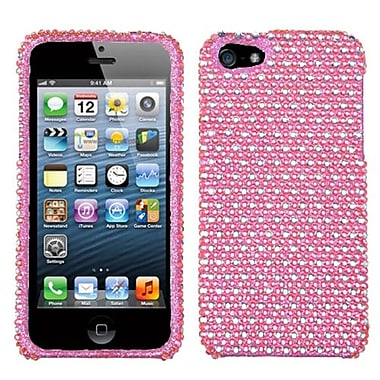 Insten® Diamante Phone Protector Cover F/iPhone 5/5S, Pink/White Dots