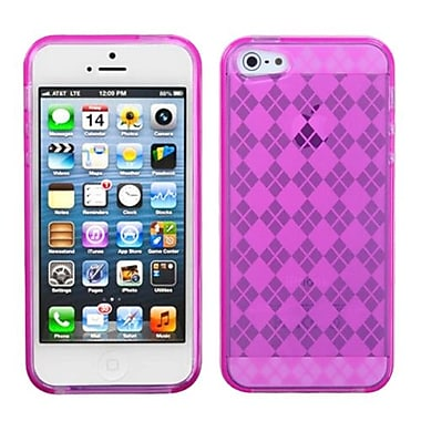 Insten® Argyle Candy Skin Cover F/iPhone 5/5S, Hot-Pink