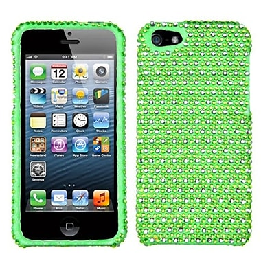 Insten® Diamante Phone Protector Cover F/iPhone 5/5S, Green/White Dots