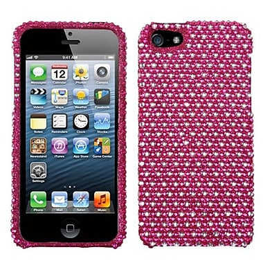 Insten® Diamante Phone Protector Cover F/iPhone 5/5S, Hot-Pink/White Dots