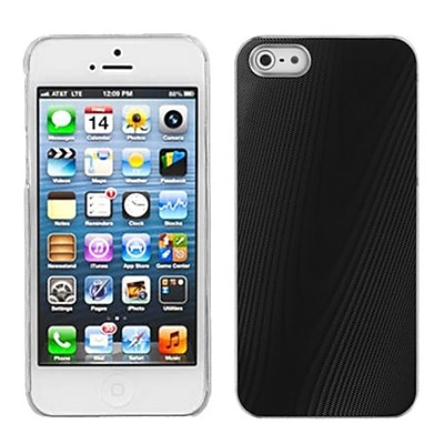 Insten® Cosmo Back Protector Cover W/Clear Side Edges F/iPhone 5/5S; Black