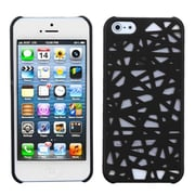 Insten® Rubberized Back Protector Cover F/iPhone 5/5S, Black Bird's Nest