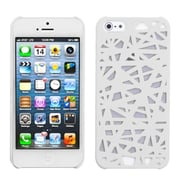 Insten® Rubberized Back Protector Cover F/iPhone 5/5S, White Bird's Nest