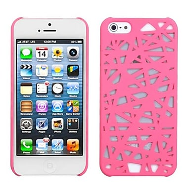 Insten Rubberized Back Protector Cover For iPhone 5/5S, Pink Bird Nest (992897)