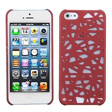 Insten® Rubberized Back Protector Cover F/iPhone 5/5S, Red Bird's Nest