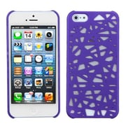 Insten® Rubberized Back Protector Cover F/iPhone 5/5S; Purple Bird's Nest