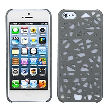 Insten Rubberized Back Protector Cover For iPhone 5/5S, Grey Bird Nest (992900)
