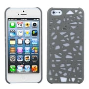 Insten® Rubberized Back Protector Cover F/iPhone 5/5S, Grey Bird's Nest