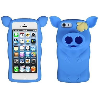 Insten® Pig Nose Cover F/iPhone 5/5S, Baby Blue