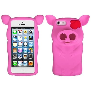Insten Pig Nose Cover For iPhone 5/5S, Hot Pink (1009268)
