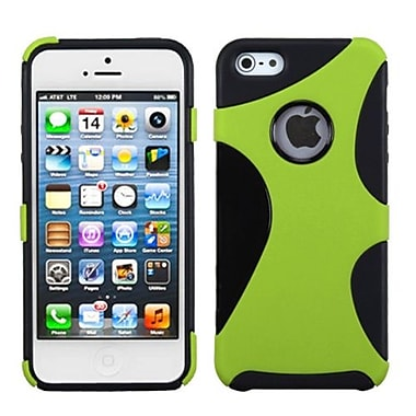 Insten Cragsman Mixy Rubberized Phone Protector Cover For iPhone 5/5S, Green/Black (1009289)