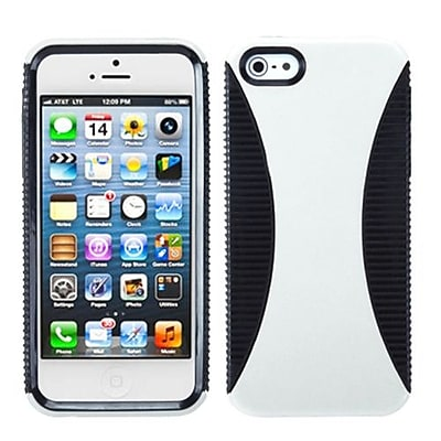 Insten® Mixy Phone Protector Cover F/iPhone 5/5S, White/Black