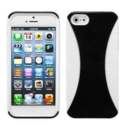 Insten® Mixy Phone Protector Cover F/iPhone 5/5S, Black/White