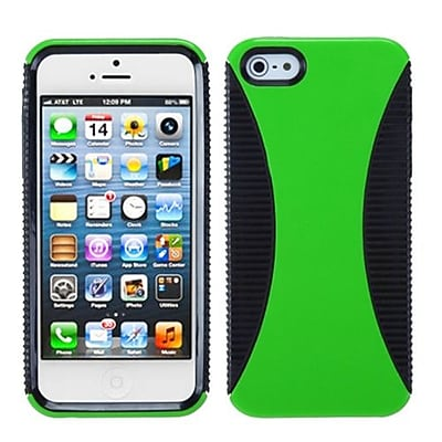 Insten® Mixy Phone Protector Cover F/iPhone 5/5S; Green/Black