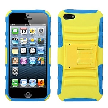 Insten® Protector Cover W/Advanced Armor Stand F/iPhone 5/5S, Yellow/Tropical Teal