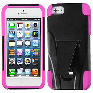 Insten Protector Cover With Inverse Advanced Armor Stand For iPhone 5/5S, Hot Pink (1009304)