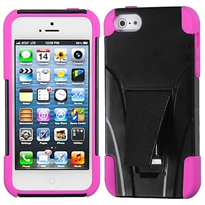 Insten® Protector Cover W/Inverse Advanced Armor Stand F/iPhone 5/5S, Hot-Pink