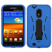 Insten® Symbiosis Stand Protector Case For Samsung Epic 4G Touch/Galaxy S II, Black/Blue