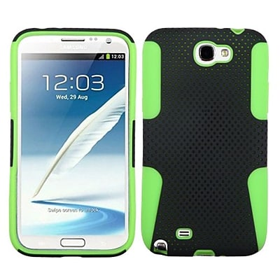 Insten® Astronoot Protector Cover Case For Samsung T889 Galaxy Note II; Black/Lime Green