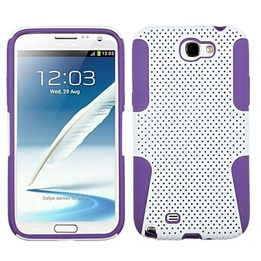 Insten® Astronoot Phone Protector Cover F/Samsung Galaxy Note II (T889/I605), White/Electric Purple