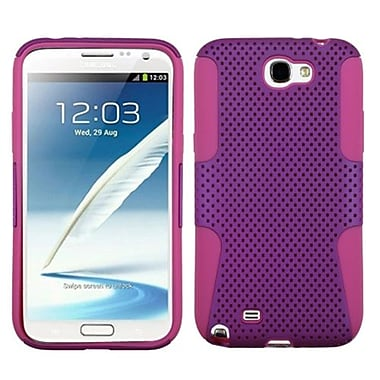 Insten® Astronoot Phone Protector Cover F/Samsung Galaxy Note II (T889/I605), Purple/Hot-Pink