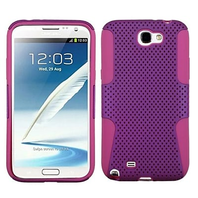 Insten® Astronoot Phone Protector Cover F/Samsung Galaxy Note II (T889/I605); Purple/Hot-Pink
