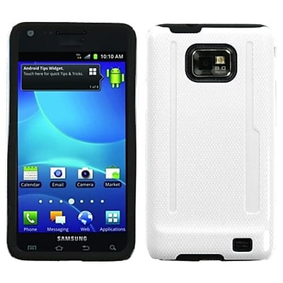 Insten® Fusion Protector Case For Samsung I777 Galaxy S2, Solid Ivory White/Black