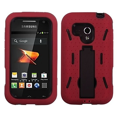 Insten® Symbiosis Stand Protector Case For Samsung M830 Galaxy Rush, Black/Red